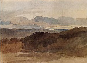 Wye Tour - The picturesque ruins of Goodrich Castle inspired many artists who took the Wye Tour, including David Cox, who produced this watercolour in 1815.