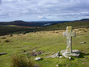 Dartmoor crosses - Ancient cross close to Crazywell Pool on southern Dartmoor