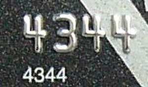Payment card number - Partial IIN on a credit card (both printed and embossed)