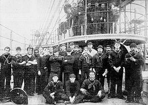 USS Helena (PG-9) - The crew in 1900.