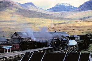 West Highland Railway - Crianlarich station, Easter 1957