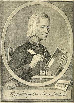 Timeline of Piacenza - Portrait of Cristoforo Poggiali, 18th century historian of Piacenza