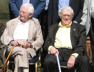 Dad's Army - Co-writers David Croft and Jimmy Perry during a Dad's Army event at Bressingham Steam Museum, May 2011.