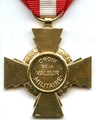 Cross for Military Valour - Reverse of the Cross