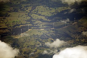 Crookwell Wind Farm - Image: Crookwell wind farm from the air