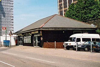 Cardiff Queen Street railway station - Image: Cropped image of Cardiff Queen Street station geograph 3842590 by Ben Brooksbank