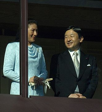 Masako, Crown Princess of Japan - The Crown Prince and Crown Princess at the Chōwaden Reception Hall during the New Year's greeting, 2 January 2011