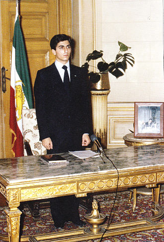 Reza Pahlavi, Crown Prince of Iran - Crown Prince Reza Pahlavi sworn in as Head of the House of Pahlavi in 1980 at Koubbeh Palace, Cairo.