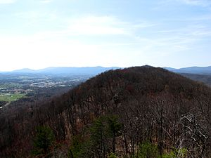 Campbell County, Tennessee - View across Cumberland Mountain from the Cumberland Trail