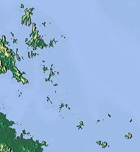 Reliefkarte der Cumberland Islands