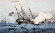 Cumberland rammed by Merrimac