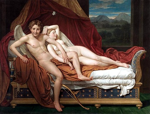 """""""Cupid and Psyche"""" by Jacques-Louis David"""