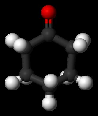 Cyclohexanone - Image: Cyclohexanone 3D balls