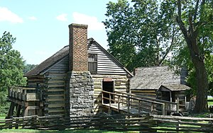 Cyrus McCormick Farm - Grist mill (left) and blacksmith shop (right)