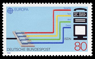 Integrated Services Digital Network - German stamp
