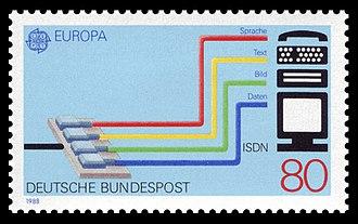 Integrated Services Digital Network - German stamp