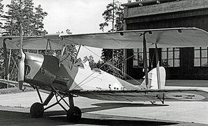 AB Svenska Järnvägsverkstädernas Aeroplanavdelning - De Havilland Tiger Moth built by ASJA in 1935 for the Royal Swedish Air Force