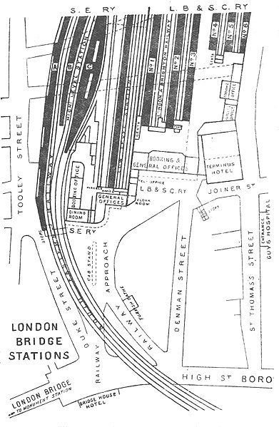 File District 1888 P143 London Bridge Station Plan