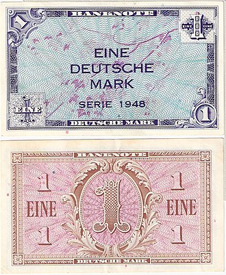 Dm schein der erstausgabe 1948