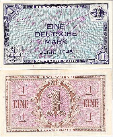 D-Mark-Schein der Erstausgabe 1948