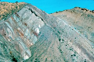 Dinosaur National Monument - Multicolored beds of the Brushy Basin Member of the Morrison Formation