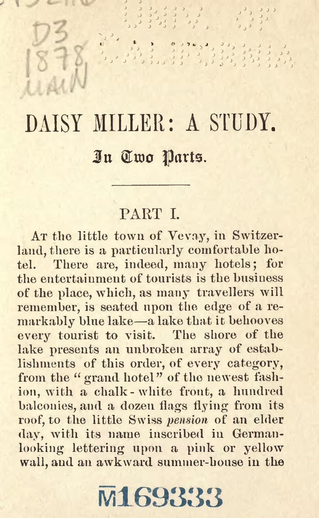Daisy Miller Questions and Answers - eNotes.com
