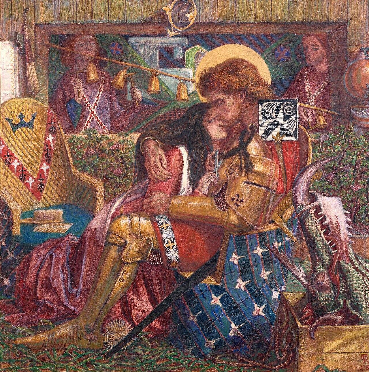 La mythologie dans la littérature 1280px-Dante_Gabriel_Rossetti_-_The_Wedding_of_St_George_and_Princess_Sabra