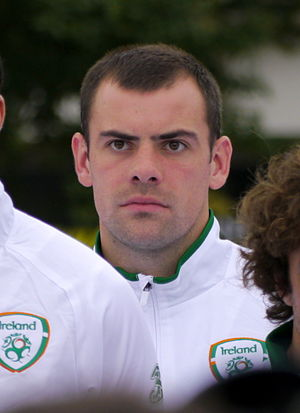 Darron Gibson - Gibson lining up for the Republic of Ireland in 2012