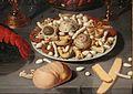 David rijckaert II, natura morta con nautilo, aragosta, frutti di mare e dolcetti 02.JPG