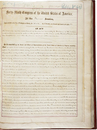 Dawes Act - The first page of the Dawes Act