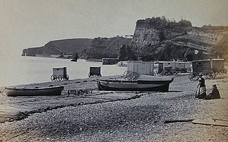 Dawlish - View of Dawlish beach May 1881.