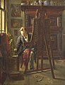 De schilder George Jan Hendrik Poggenbeek (1854-1903) in zijn atelier Rijksmuseum SK-A-4886.jpeg