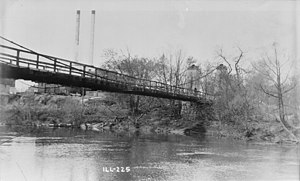 General Dean Suspension Bridge - The General Dean Suspension Bridge in 1936 for the Historic American Buildings Survey