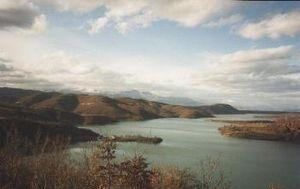 Dibër valley - Reservoir on the Macedonian side (1986)