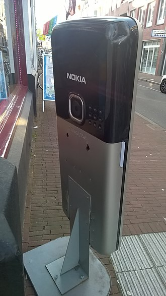 Nokia 6300 - Back of a Nokia 6300 on display