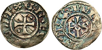 Hugh Capet - Denier of Hugh Capet for Beauvais