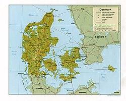 Location of Denmark