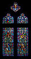 Derry St Columb's Cathedral Passage to Chapter Room Window Jesus Christ 2013 09 17.jpg
