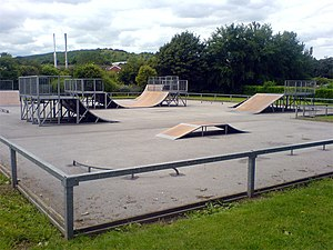 Mansfield Woodhouse - Skate area at Yeoman Hill Park