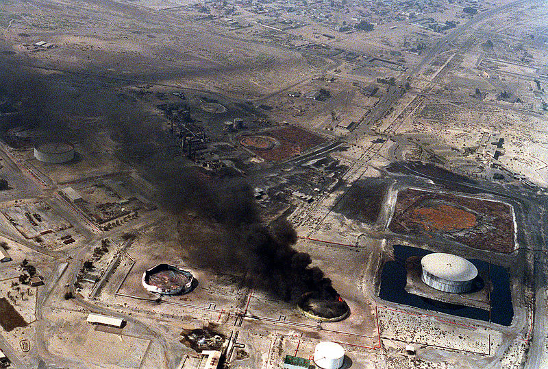 File:Destroyed Oil Storage Desert Storm 1991.jpg