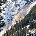 """Detail with super telezoom of the preceeding avalanche photo, hugh quantities of big """"snowballs"""" are coming down with high speed - panoramio.jpg"""