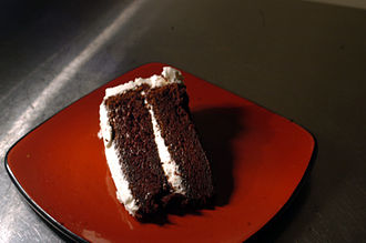 Devil's food cake - Devil's food cake with vanilla icing