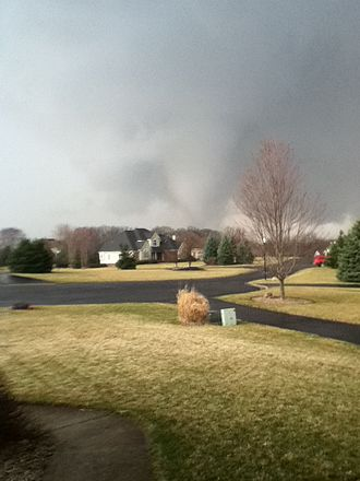 Dexter, Michigan - Tornado outside of Brass Creek