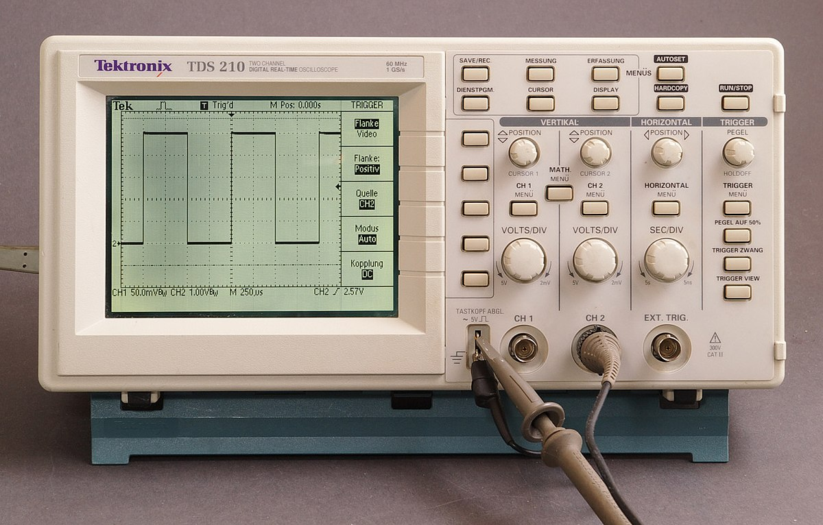 Digital Storage Oscilloscope Wikipedia Measurement Of Electrical Quantities With A Cro