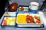 Dinner on board flight CI-007 (11260457995).jpg