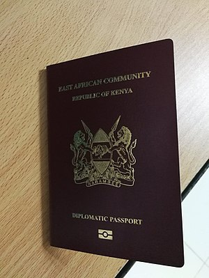 Kenyan passport - Cover of a diplomatic passport