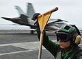 Directing and handling the planes aboard the USS Abraham Lincoln DVIDS109664.jpg