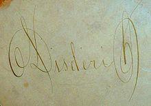 Signature Manuscrite Au Dos Dune Photo Cette Graphie Est Reprise En Imprimerie Sur Certains De Carte Visite