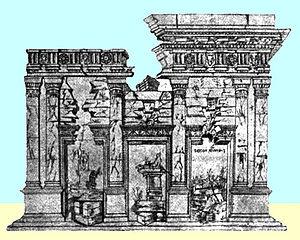Basilica Aemilia - Image: Disegno 1480Giuliano Da Sangallo Basilica Emilia Roma