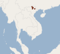 Distribution of Aselliscus dongbacana.png
